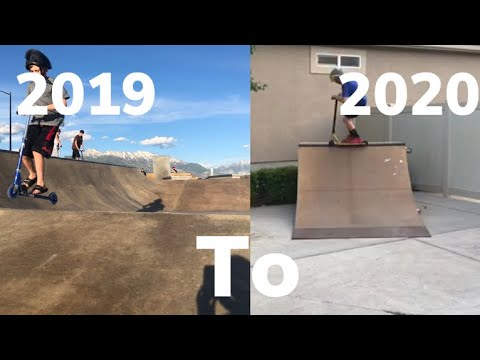 1 year scooter progression 2019 - 2020