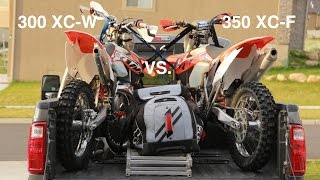 5. KTM 350 XC-F vs 300 XC-W on the Razorback Trail