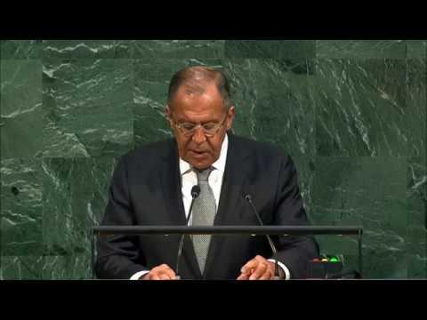 Ключевые моменты выступления Сергея Лаврова на Генеральной Ассамблее ООН (видео)