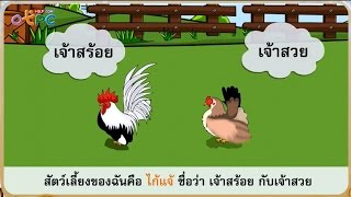 สื่อการเรียนการสอน ไก่แจ้แซ่เสียง ตอนที่ 1 ป.2 ภาษาไทย