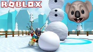 MY NEW FAVORITE SIMULATOR GAME! | ROBLOX Snowman Simulator