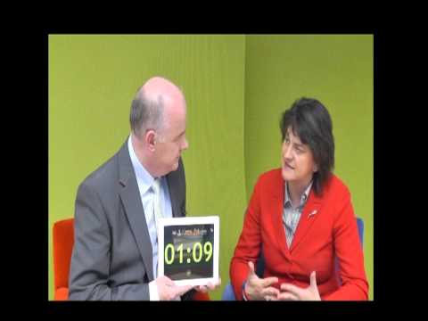 Minister Arlene Foster, DETI, takes the 60 second challenge with Omagh Enterprise Company