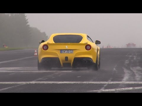 accelerating - In this video you can see a lot of great supercars accelerating on a closed airfield in Germany. Many supercars are tuned or equipped with aftermarket exhaus...