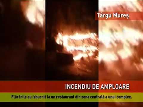 Restaurant mistuit de flăcări, la Târgu Mureş