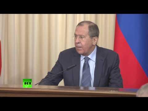 Пресс-конференция глав МИД России и Италии