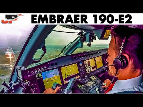 Piloting the Brand New Helvetic EMBRAER 190-E2 | Cockpit Views