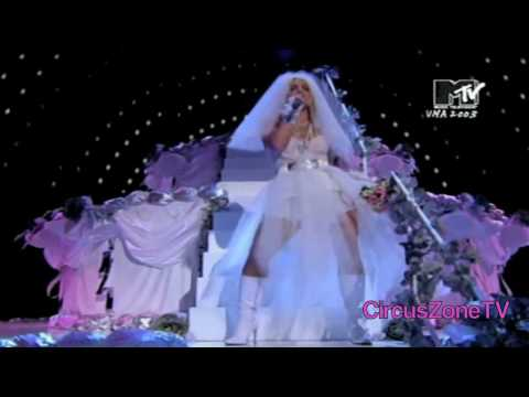 Britney Spears: Like A Virgin/ Hollywood (Feat. Madonna & Christina Aguilera) MTV VMAS 2003 720 HD