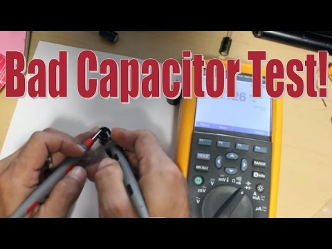 How to Test a BAD Capacitor with a Multimeter on your Power Supply