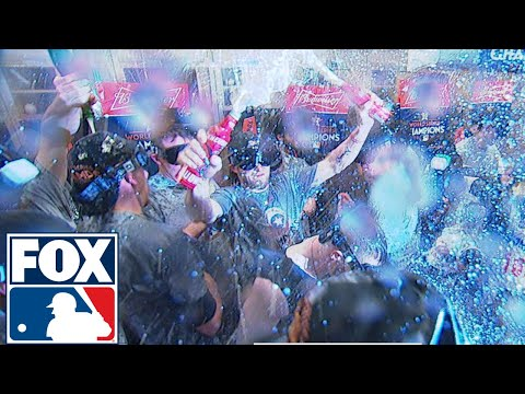 Houston Astros get the party started after Game 7 | 2017 MLB Playoffs | FOX MLB