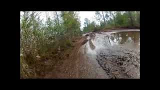 9. 2013 Honda TRX400X Deals With Mud, Ruts & Water Rear Facing GoPro