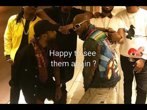 Mo Hit ,Donjazzy , Dbanj , wande coal , Dr sid, Marvin reunion at back stage of Davido concert