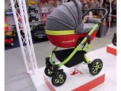 Универсальная коляска Tutek Grander PLAY цвет 4 серо-салатовый с красным