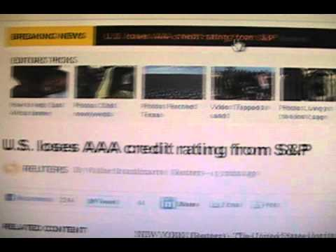 Alert!  The United States Just Lost our AAA Credit Rating