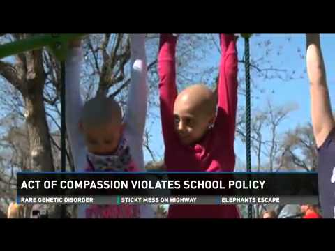 11 year old girl gets in trouble with her school for shaving her head