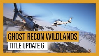 The Title Update 6 of Ghost Recon Wildlands is here with many improvements including helicopter control: the entire control has been renewed, every helicopter now has a different behavior and their physics are more realistic.New helicopter controls  can be desactivated in order to revert to the previous controls.