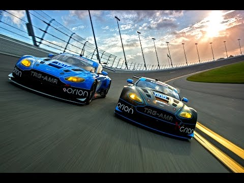 Being chased by two Aston Martins, I drove a minivan at 120mph around Daytona for a photo shoot.