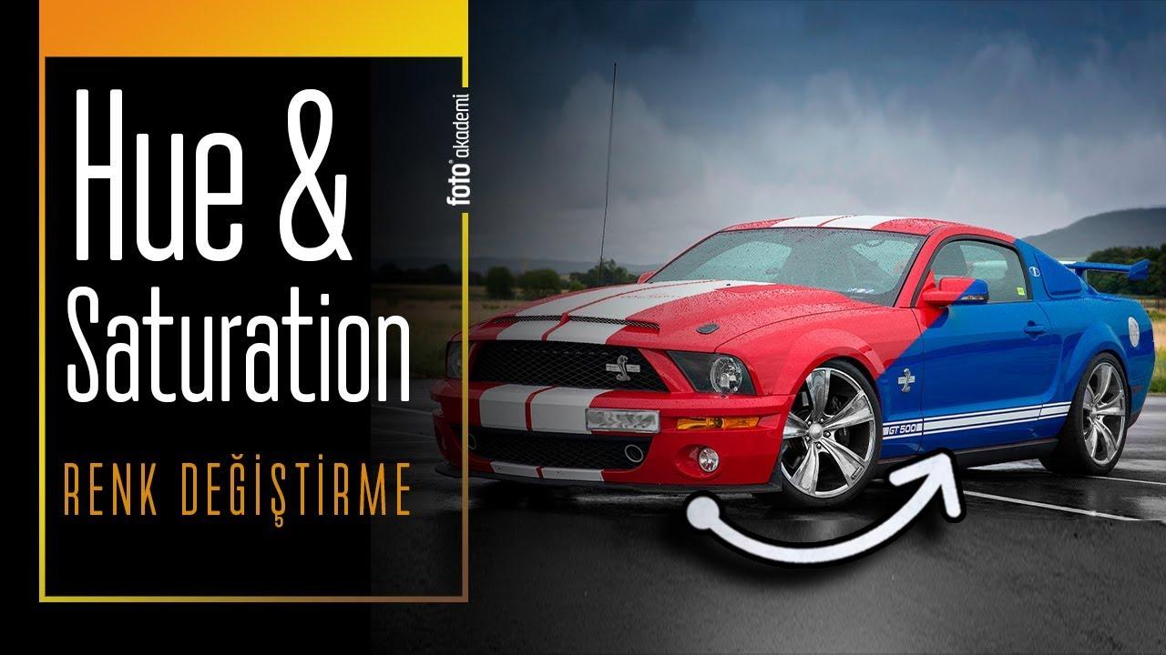 Photoshop' ta Hue Saturation ile Hızlı ve Kolay Renk Değiştirme - 4K