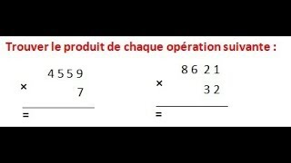 Maths 6ème - Les opérations : Addition Soustraction Multiplication Division Exercice 9
