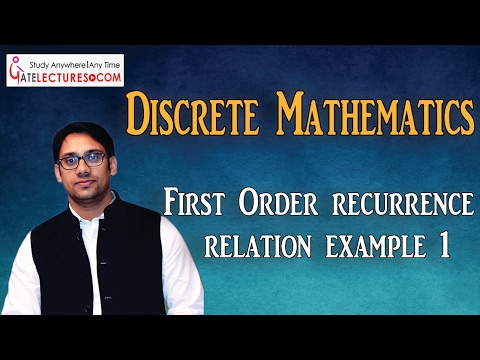 02 First Order recurrence relation example 1