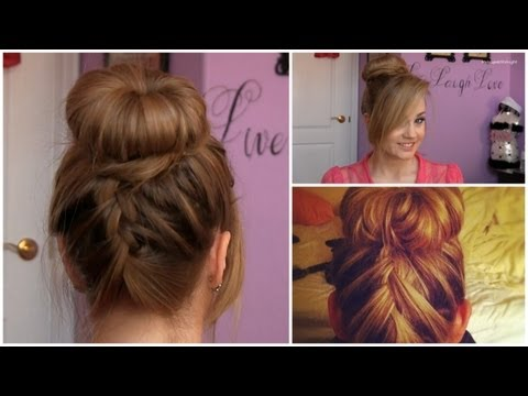 upside down french braid - Don't forget to subscribe! http://www.youtube.com/subscription_center?add_user=makeupatmidnight This unique variation of the very popular sock bun hairstyle ...