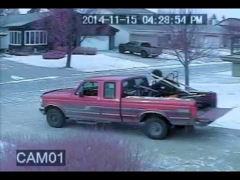 Winnipeg Thieves stealing my snow blower pt2