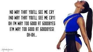 Demi Lovato - Too Good At Goodbyes (Sam Smith cover)(Lyrics)