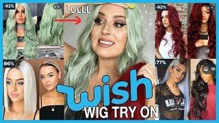 Video Trying On Cheap WISH APP Wigs! 💕💇 OMG LOOOOVE!!! MP3, 3GP, MP4, WEBM, AVI, FLV Maret 2019