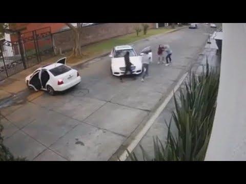 5 secuestros captados en camara.