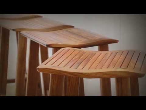 The Waterfall stool was designed for the Australian lifestyle.