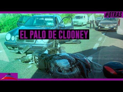 Fuerte accidente de Geoge Clooney en moto (11-07-2018)
