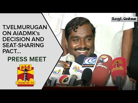 T-Velmurugan-on-AIADMKs-Decision-and-Seat-Sharing-Pact-Press-Meet--Thanthi-TV