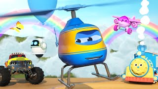 Video Learn Shapes with Alex the Helicopter and his Friends - The Amazing Sky Adventure | Shapes and Toys MP3, 3GP, MP4, WEBM, AVI, FLV November 2018