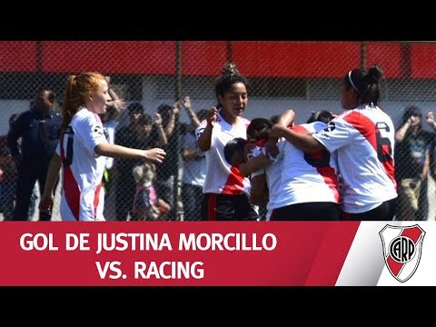¡QUÉ PEGADA, JUSTINA! Golazo de Morcillo en la victoria frente a Racing.