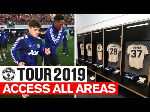 Manchester United | Tour 2019 | Access All Areas | Perth Glory | James, Rashford, Garner