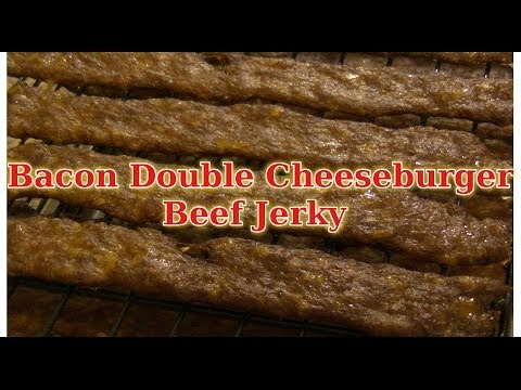 Easy Bacon Double Cheeseburger Beef Jerky