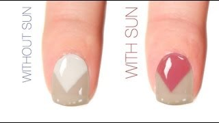 Triangle Color-Changing Nail Art Design