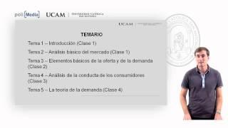 Microeconomía I - Presentación Asignatura - Alfonso Rosa García
