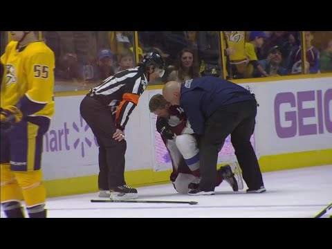 Video: Predators' Watson hits Toninato hard into boards, gets game misconduct