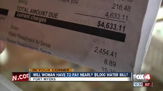 A disabled woman facing a nearly $5,000 water bill insists her meter is broken. City officials say her meter indicated she used close to 140,000 gallons of water in one week.