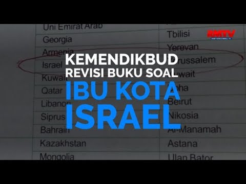 Kemendikbud Revisi Buku Soal Ibu Kota Israel