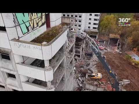 """VIDEO: V Moskvě zbourali """"vraždící nemocnici"""""""