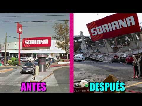 LOS EDIFICIOS de MÉXICO ANTES y DEPUÉS del TERREMOTO (видео)