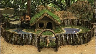 Build Waterfall For Our Red Fish Pond & Build Dog's House Fences