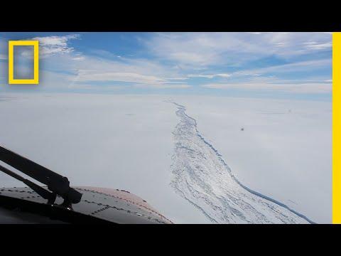 See the Huge Crack in West Antarctica Before Iceberg Broke Off  National Geographic