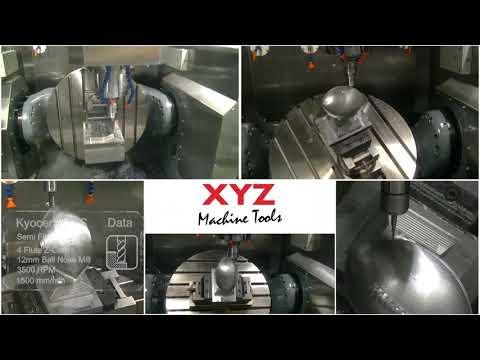 XYZ Rugby Ball Machining   Edgecam (видео)