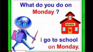 Days of the week, Monday, Tuesday, English for children, ESL Kids Lessons