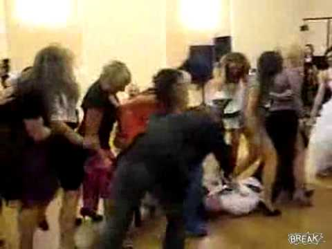 Man Goes Through Bridesmaid\'s Train On His Back Video