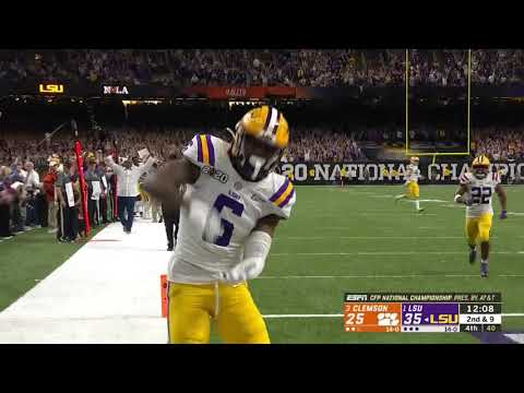 Burrow And Jefferson Connect For Huge Touchdown To Extend Lead//National Championship Highlights