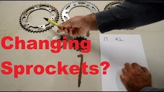 8. Calculating what sprocket to get on your motorcycle