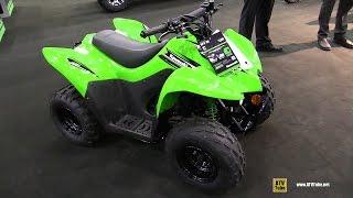8. 2016 Kawasaki KFX90 Sport ATV - Walkaround - 2015 Toronto ATV Show